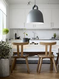 scandinavian furniture style. Scandinavian Style Kitchen + Dining. Gervasoni Chairs And Normann Copenhagen Bell Pendant Furniture
