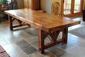 hand made reclaimed heart pine farmhouse dining table by fiddleback inside remodel 11