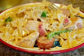 cajun en and polish sausage pasta