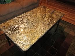 furniture grey granite top coffee table with grey metal
