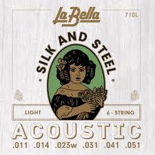 La Bella String Tension Chart La Bella 710l Silk And Steel Acoustic Guitar Strings Light