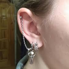 Dream Catcher Helix Earring BOG Lot 100 Pieces Dream Catcher Ear Piercing Cartilage Stud Earring 3