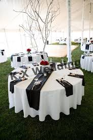 black color satin table runner for wedding cloth round with on idea 17