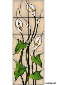 vector ilration in stained glass window