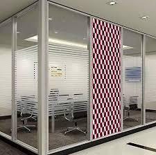 Yoliyana Stained Glass Window Film Abstract For Bathroom Shower Door Heat Cotrol Anti Uv Geometric Cube Prisms Flat Ornament Retro Minimalist