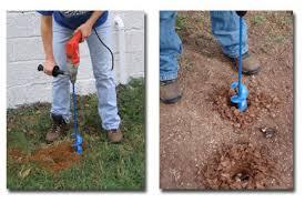 garden auger drill bit. Using A Garden Auger With Corded Milwaukee Drill Bit