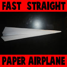 how to make a fast straight paper airplane kids crafts how to make a fast straight paper airplane