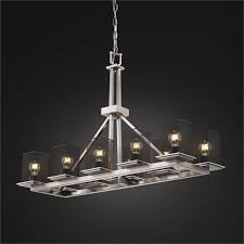 wire mesh rectangular montana chandelier by justice design msh 8650 15 nckl