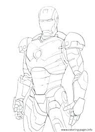 Iron Man Color Page Simple Iron Man Coloring Pages Iron Man Color