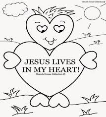 Coloring Page Jesus Loves Me Heart Printable Coloring Page For Kids