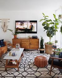 Mid Century Modern Living Room Splendid Mid Century Design Of Small Living Room With Bean Bag