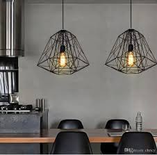 industrial pendant lighting. Nordic Diamond Vintage Loft Pendant Lamp Iron Cage Industrial Light Bar/Warehouse/Dining Lighting L