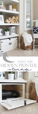 Hidden Printer Cabinet Diy Hidden Printer Storage In A Cabinet Make It Whatever Size You