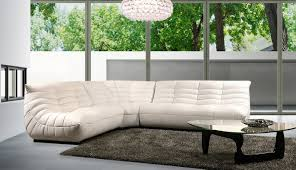 Furniture Luxury Leather Sectional Sofa For Elegant Living Room - Living room furniture white