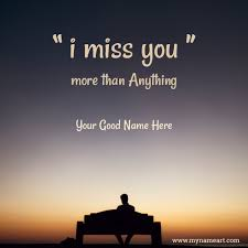 send miss you message to lover with name