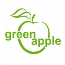 green apple logo png. green apple león logo png