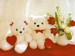 two teddy bear dolls wallpaper