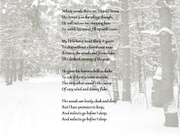 stopping by woods on a snowy evening analysis lesson plan and  let s start the poem