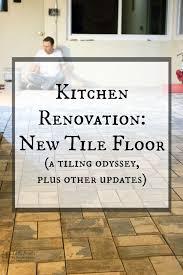 kitchen renovation new tile floor