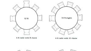 6 foot round tables table seats how many that seat 8 by ft