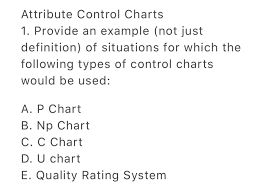 Solved Attribute Control Charts 1 Provide An Example No