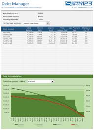 Debt Payoff Excel Free Debt Reduction Manager For Excel