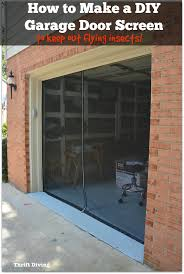 diy garage doorHow to Make Your Own Garage Door Screen With a Zipper