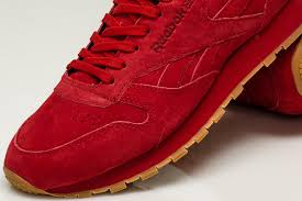 reebok classic leather red suede