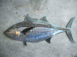 decorative metal fish wall art metal fish art wall decor blue fin tuna fish metal sculpture