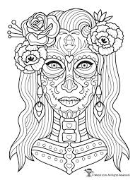 The day of the dead celebrations in mexico developed from ancient traditions. Dia De Los Muertos Adult Coloring Page Woo Jr Kids Activities