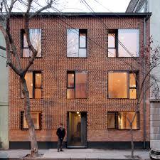 Brick Apartment Building - Modern apartment building facade