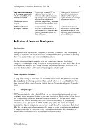 essay on economic development the theory of the firm and the  indicators of economic development