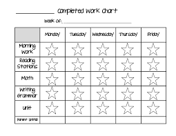 Star Completed Work Chart Pdf School Behavior Chart Daily
