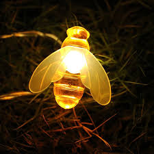 New Solar <b>String</b> 20LED <b>30LED</b> Lights Honey Bee Shape Solar ...