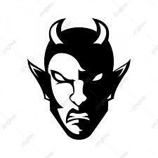 Demon Horn Designs Evil Satan Demon Horn Hell Mascot Head Evil Satan Demon
