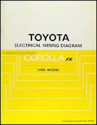 1985 toyota manuals page 2 1985 toyota corolla rwd wiring diagram manual original gt s sr5