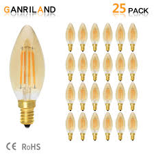 Ganriland Led E14 Dimmable Gold Mini Tubular Chandelier Night Lamp