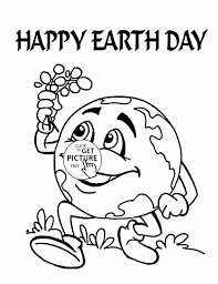 Small Picture Page Of Earth Day Coloring Page For Kids Pages Printables Free