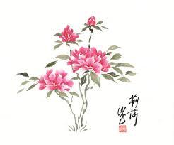 gorgeous flowers chinese brushchinese artchinese paintingasian