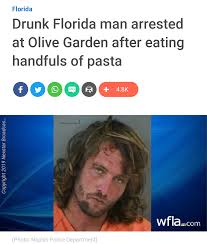 florida man and the gluttony of pasta