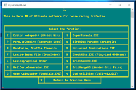 Trifecta Payout Chart Horse Racing Ultimate Software For Trifecta Betting