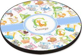 animal alphabet round table personalized
