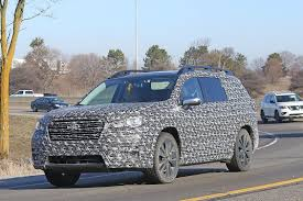 3 row subaru 2018. Brilliant Subaru 2018 Subaru Ascent 3Row Crossover SUV Spied In Detail In 3 Row Subaru