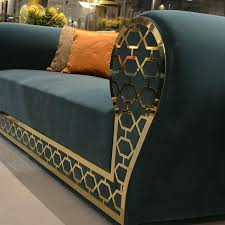 luxury sofas sofa with gold metal