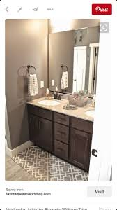 Light Brown Paint Color Bathroom Espresso Cabinet With Light Countertop And Gray Paint Color