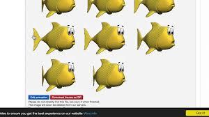 simple animation with processing fish in aquarium