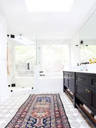 interiors by jacquin ditch the bathmat luxe area rug ideas for within bathroom rugs designs 0