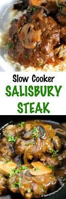 pioneer gravy. slow cooker salisbury steak is one of our favorite comfort foods. tender beef patties simmered pioneer gravy