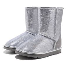 ugg classic short sparkles boots silver 3161 black friday