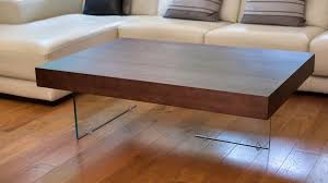 brand new danetti aria large espresso dark wood contemporary coffee table with glass legs in great yarmouth norfolk gumtree